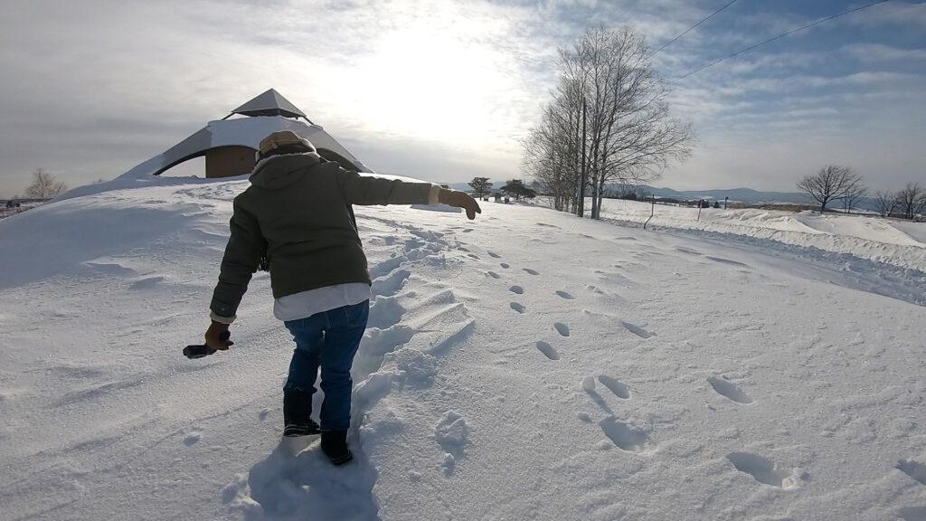 北海道での雪は日常